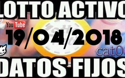 LOTTO ACTIVO DATOS FIJOS PARA GANAR  19/04/2018 cat06