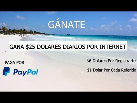 ¡MUY BUENO!! GANA $25 DOLARES DIARIOS! | $1 Dolar Por Referido | Por PayPal 2018