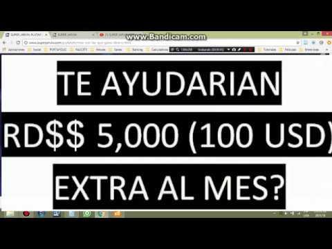 TE GUSTARIA GANAR $$5,000$$ RD (100 USD) EXTRA MENSUALMENTE?? Video 1