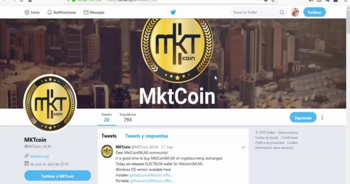 ATENCIÓN | Sigue Las Noticias Importantes de MKTcoin por Twitter