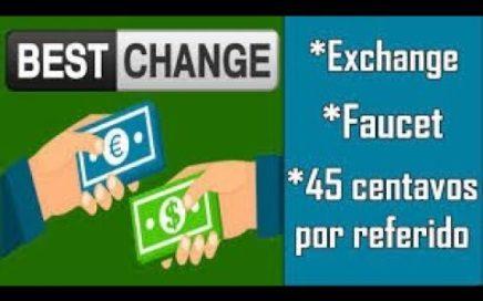 BestChange | Gana Dinero Gratis Por Referido Y Con Faucet