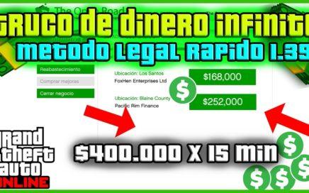 COMO CONSEGUIR DINERO DE FORMA LEGAL Y RAPIDA GTA V ONLINE *1.39*