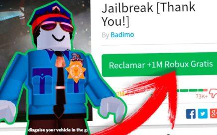 Como CONSEGUIR MILLONES de ROBUX GRATIS Jugando JAILBREAK como POLICIA !!! ROBLOX [CAZANDO MITOS]