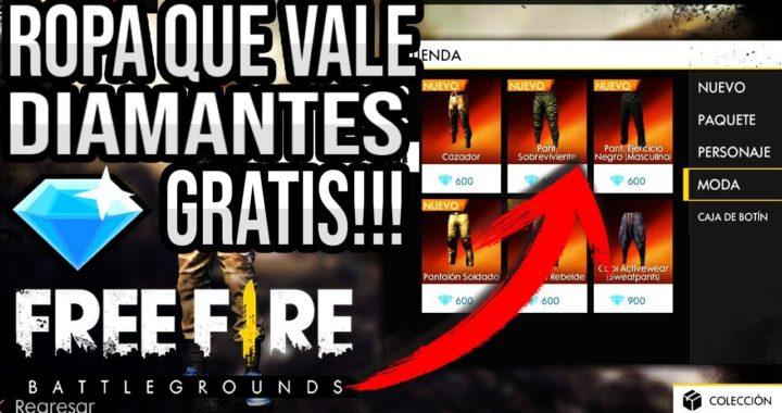 COMO CONSEGUIR ROPA Y PARACAÍDAS DE DIAMANTES GRATIS EN FREE FIRE!!!