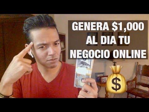 Como ganar $1,000 al dia con tu NEGOCIO ONLINE