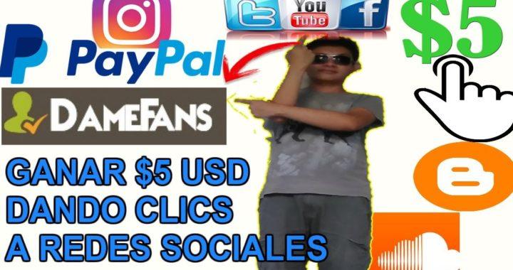 Como ganar Dinero Dando click a Redes Sociales/ Pago a paypal $5.00 Dólares