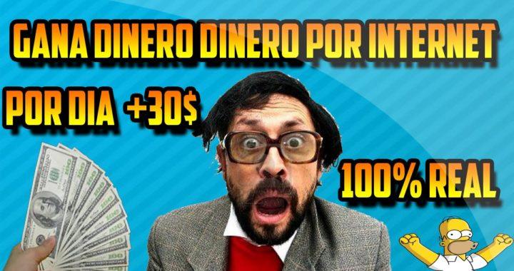 Como Ganar Dinero Fácil y Rapido Por Internet - Gana De 15$ A 60$  Dolares Por Dia [Video Real]