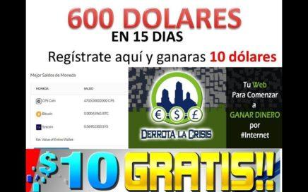 Como Ganar Dinero Por Internet Gratis 10 Dolares TUTORIAL REGISTRO - COMO GANAR 10 DOLARES GRATIS