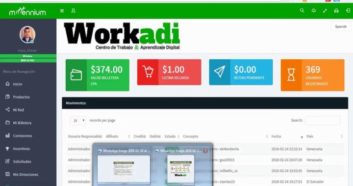 COMO GANAR DINERO POR INTERNET SIN INVERTIR WORKADI ¡¡1 dolar por referido Hasta 10 dolares!! PayPal