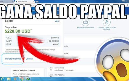 COMO GANAR SALDO PARA PAYAPL 1 o 2 DOLARES DIARIOS 2018