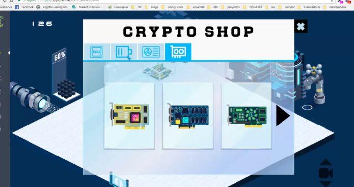 Cryptofarmer gana dinero gratis con un simulador de granja de mineria