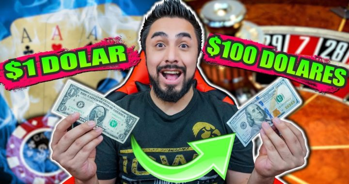 ¿Cuánto dinero puedo hacer con un dolar en un casino online? | Casino challenge #1