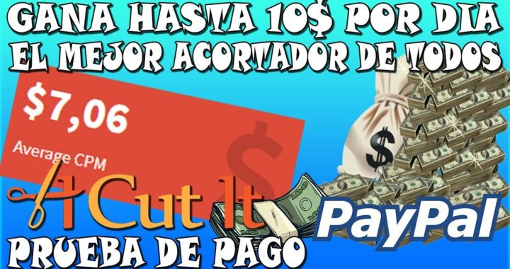 El mejor acortador de Links que mas paga | Gana 10$ por DIA PayPal - CPM 8$