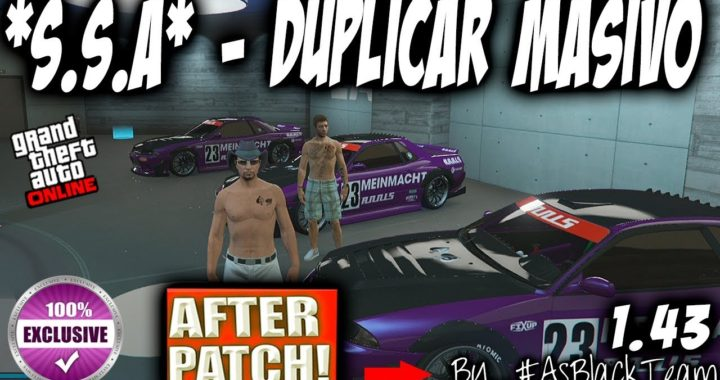 *EXCLUSIVO* - *SOLOS* - DUPLICAR COCHES MASIVO - AFTER PATCH - by #AsBlackTeam - GTA5 - (PS4 - XB1)