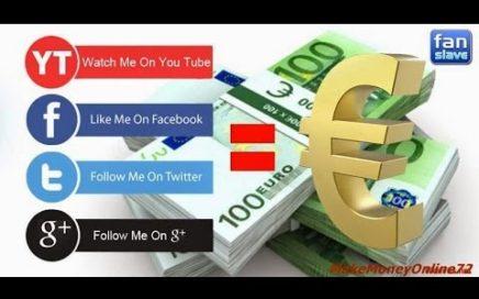 Fanslave 2017 La mejor plataforma para ganar dinero 100 EUROS AL Dia