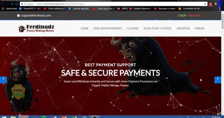 FERDINADZ-Gana dinero desde Casa 2018- Paypal, Payeer, Perfect money, Bitcoin