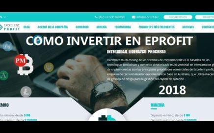GANA DINERO CON E PROFIT  COMO INVERTIR EN EPROFIT PLATAFORMA DE INVERSION RENTABLE ES 19.05.2018