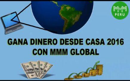 Gana dinero desde casa con MMM GLOBAL 2016.