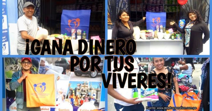 Gana dinero por tu compra de víveres en DELPF CORPORATION (Perú)