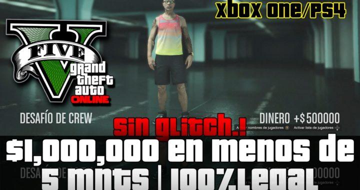 GTA V X1/PS4 - 1 MILLON EN 5 MNTS | Legal | Dinero Infinito | RAPIDISIMO