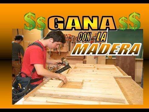 IDEAS PARA GANAR DINERO CON LA MADERA / POCA INVERSION