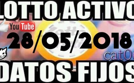 LOTTO ACTIVO DATOS FIJOS PARA GANAR  28/05/2018 cat06