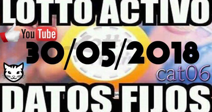 LOTTO ACTIVO DATOS FIJOS PARA GANAR  30/05/2018 cat06