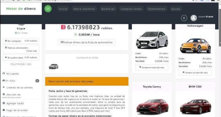 MOTORMONEY Excelente PAGINA PARA GANAR RUBLOS/DOLARES + Pago Instantáneo