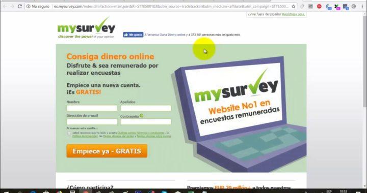 MySurvey Gana Dinero Gratis a Paypal con Encuestas Online | Gokustian