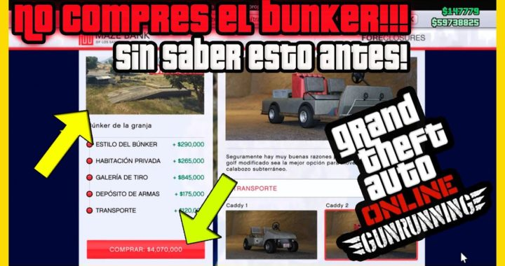 """NO COMPRES EL BUNKER EN """"GTA ONLINE"""" SIN SABER ESTO ANTES!! TODA LA INFORMACION AQUI!"""