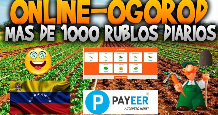 Online-Ogorod | Gana 1000 rublos al dia  | Prueba de Pago y Explicacion detallada del Banco