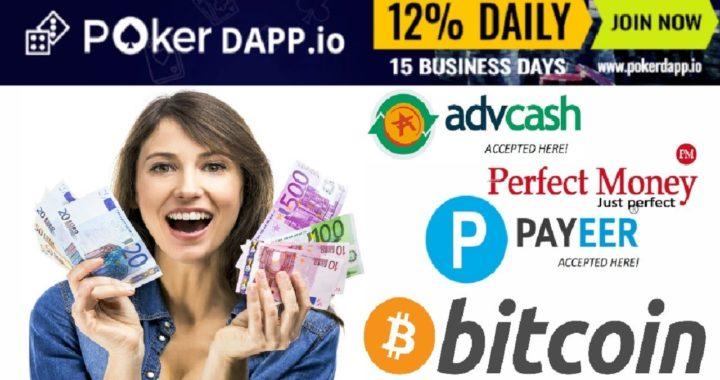 PokerDAPP Robot de Póquer – Gana 10% Diario de tu Inversión/ Pruebas de Pago $30,00