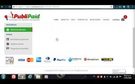 PubliPaid nueva ptc pagando 100% de referidos ( REGISTRATE 17 MAYO )