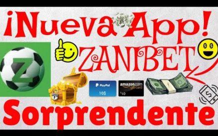 ZaniBet| Gana Dinero Por Paypal y Amazon Apostando Gratis en Partidos De Fútbol| Nueva App| Amadroid