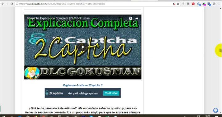 2Captcha Página Rusa para Gana Dinero con Captchas (Prueba de Pago)   Gokustian