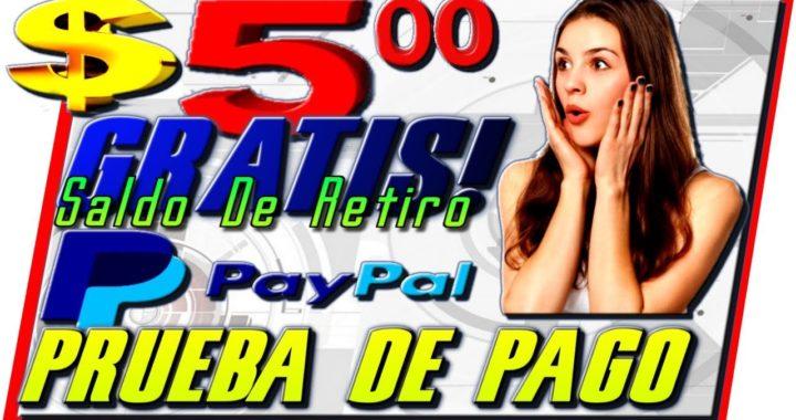 $5.00 Dolares Gratis Para PayPal Prueba De Pago [ Como Ganar Dinero En Internet Desde Casa ]