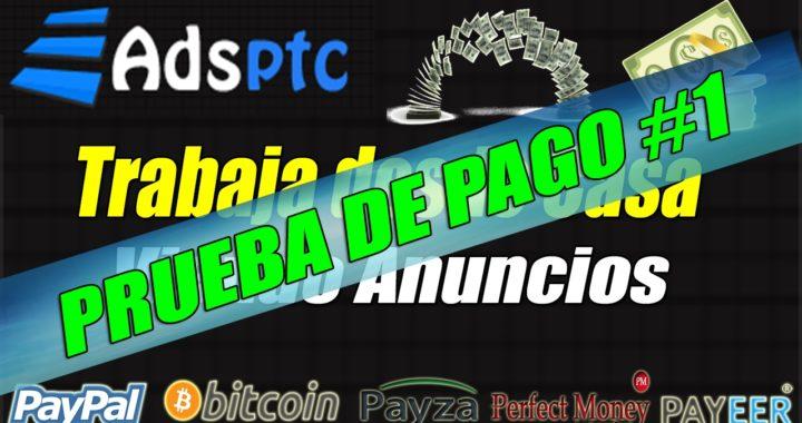 AdsPtc Prueba de Pago en Bitcoin Febrero 2017 | Dinero Gratis desde Casa con Ads Ptc
