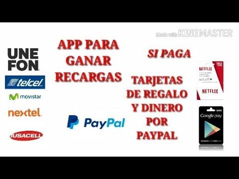 App para Ganar Tarjetas de  GooglePlay, Netflix, Dinero por Paypal Y Recargas