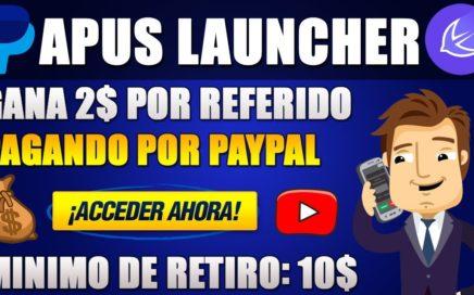 APUS LAUNCHER   GANA 2$ por REFERIDO con esta APP // JUNIO 2018   Josue Moncada
