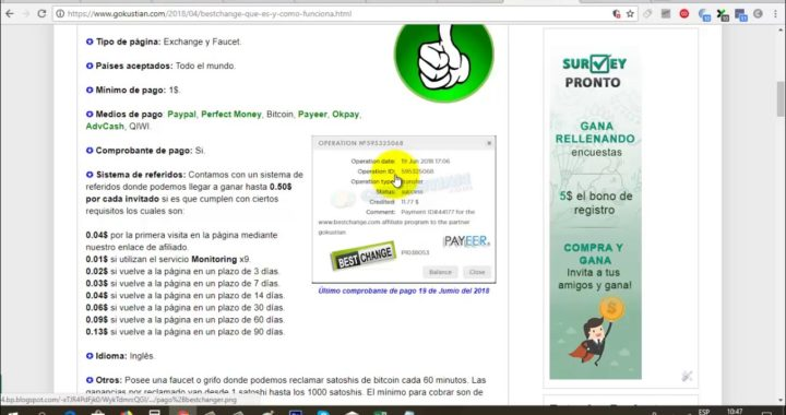 BestChange ya no paga por Paypal y Prueba de Pago Payeer   Gokustian