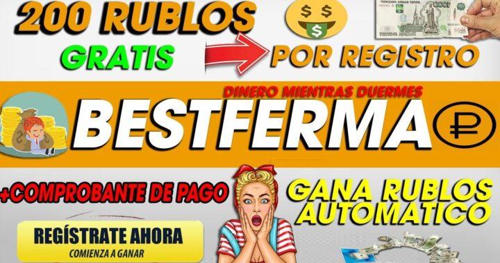 BestFerma| Gana Rublos GRATIS Sin invertir + 200 Rublos Por Registro + Comprobante de pago