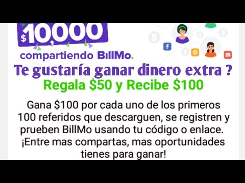 ¿como ganar dinero desde casa ?con billmo es fácil generar un dinero extra !