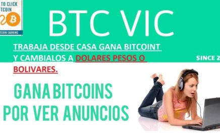 Como ganar dinero desde casa con Btcvic (Bitcoint, Dolares. Pesos, Bolivares)
