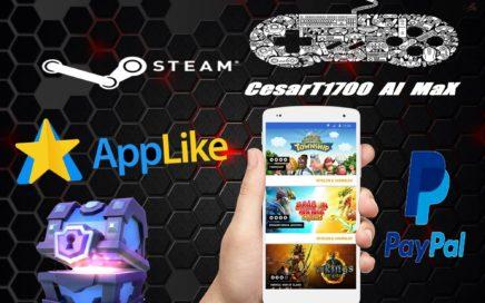 Como ganar Dinero Gratis para PayPal!! Gemas para Clash royale y steam gratis applike 2016