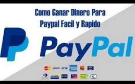 Como ganar dinero para paypal gratis!!!?