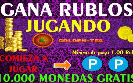 COMO GANAR Rublos, JUGANDO Golden Tea!! 10.000 Monedas Gratis - 19 de Junio 2018
