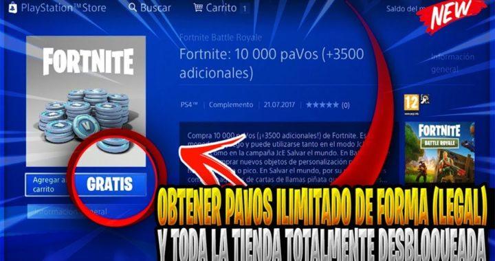 COMO OBTENER PAVOS ILIMITADOS DE FORMA (LEGAL) Y TODO DESBLOQUEADO EN EL FORTNITE BATTLE ROYALE