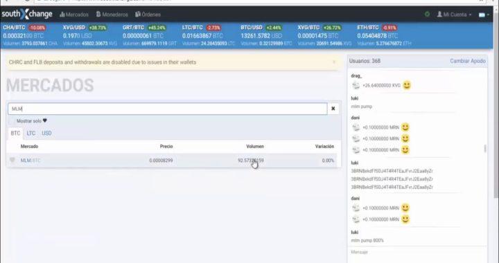 Como Transferir, Comprar y Vender MKTcoin en SouthXchange