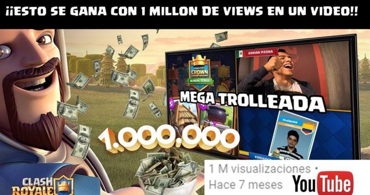 ¿CUANTO DINERO SE GANA EN YOUTUBE CON UN VIDEO DE 1 MILLÓN DE VIEWS? | KManuS88
