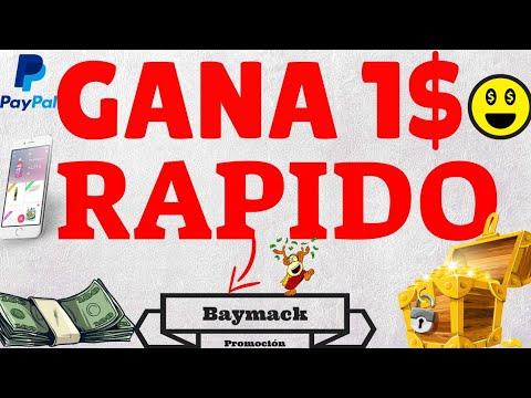 Esta es la forma más rápida de ganar 1$ Por PayPal Gratis y Fácil {Reto 1$ de Baymack} AmaDroid